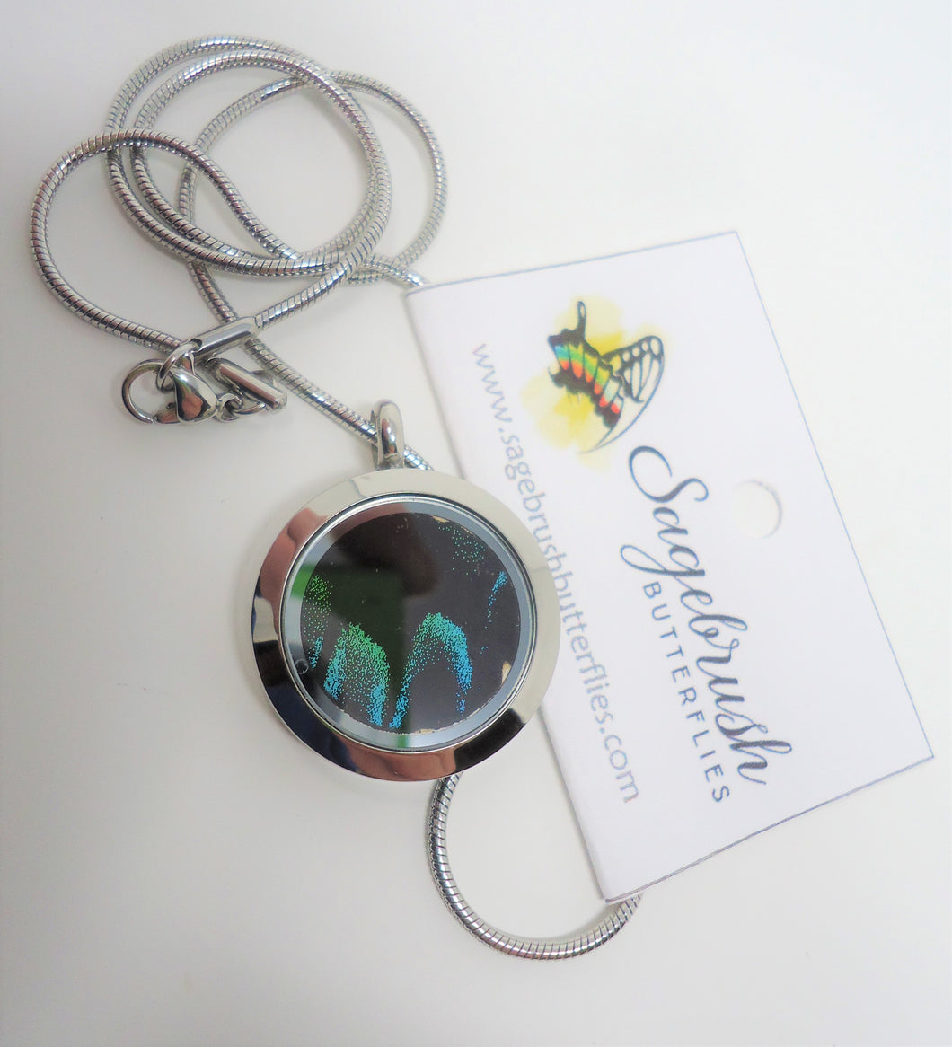 Peacock Swallowtail Locket