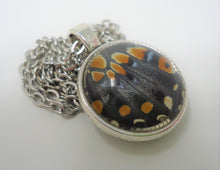Eastern Black Swallowtail Double Sided Pendant Necklace