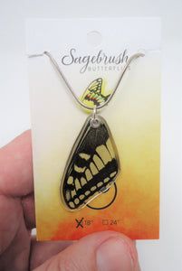 Anise Swallowtail Butterfly Resin Necklace