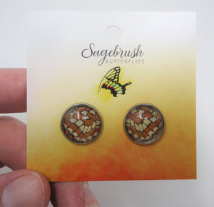 Checkerspot Post Earrings