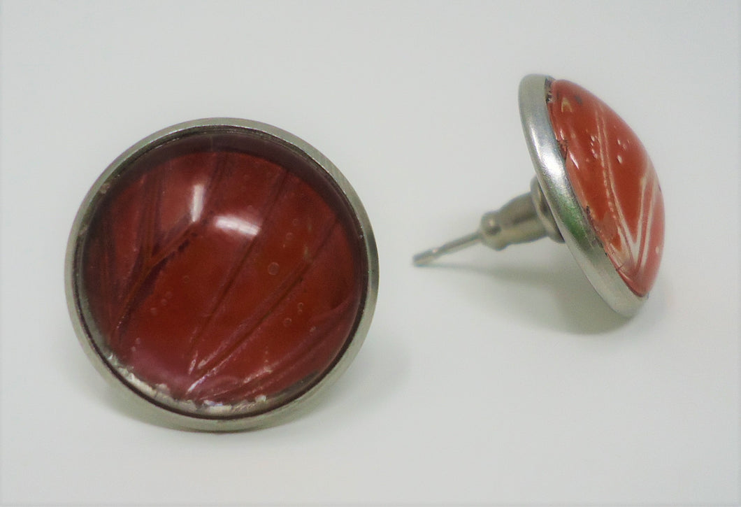 Blood Red Glider Post Earrings