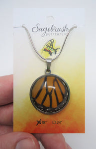 Monarch Butterfly Pendant Necklace