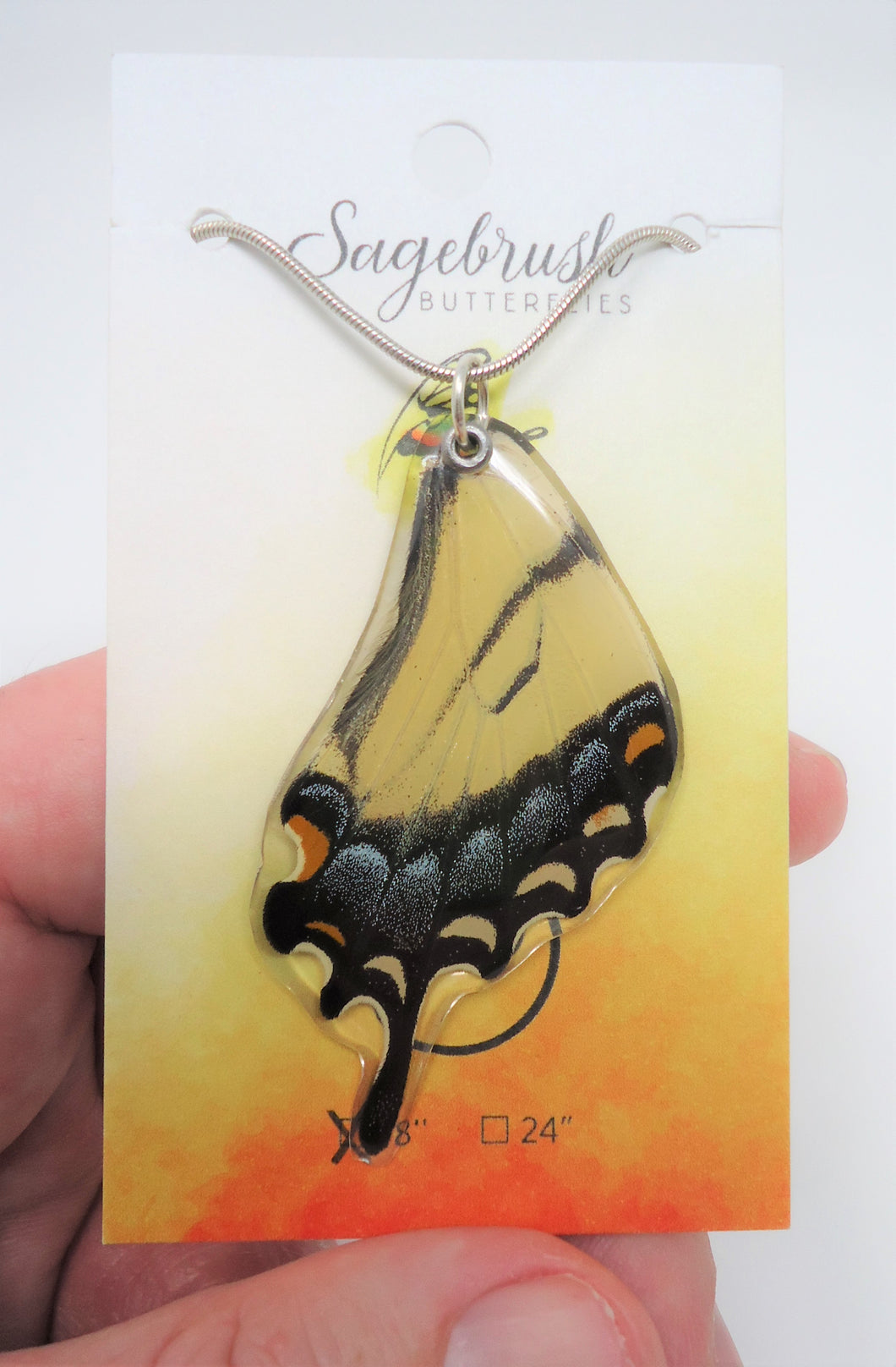 Eastern Tiger Swallowtail Butterfly Resin Wing Necklace