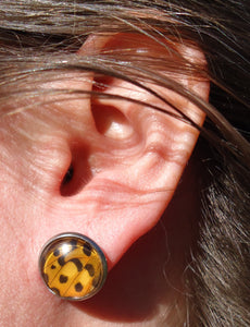 Fritillary Post Earrings