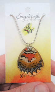 Malay Lacewing Butterfly Resin Wing Necklace