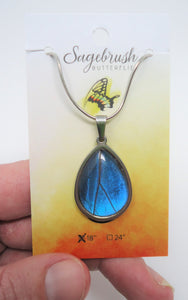 Blue Morpho Pendant Necklace