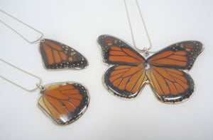 Monarch Butterfly Resin Necklace