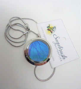 Blue Morpho Butterfly Locket