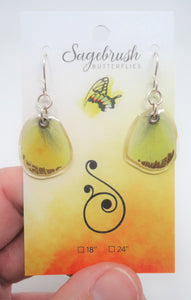 Sulphur Butterfly Resin Earrings