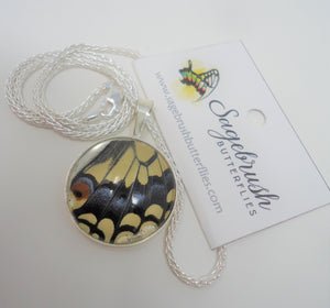 Oregon Swallowtail Sterling Silver Pendant Necklace