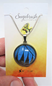 Blue Mountain Swallowtail Pendant Necklace
