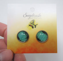 Peacock Swallowtail Post Earrings