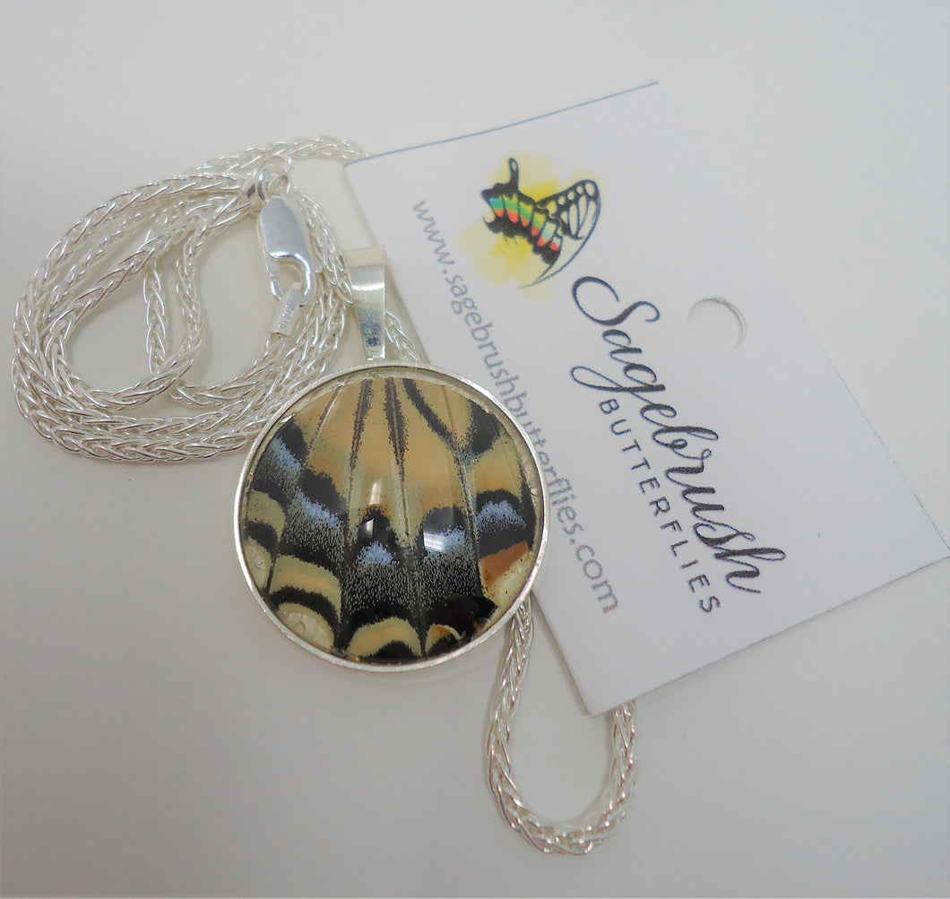 Two Tailed Swallowtail Sterling Silver Pendant Necklace
