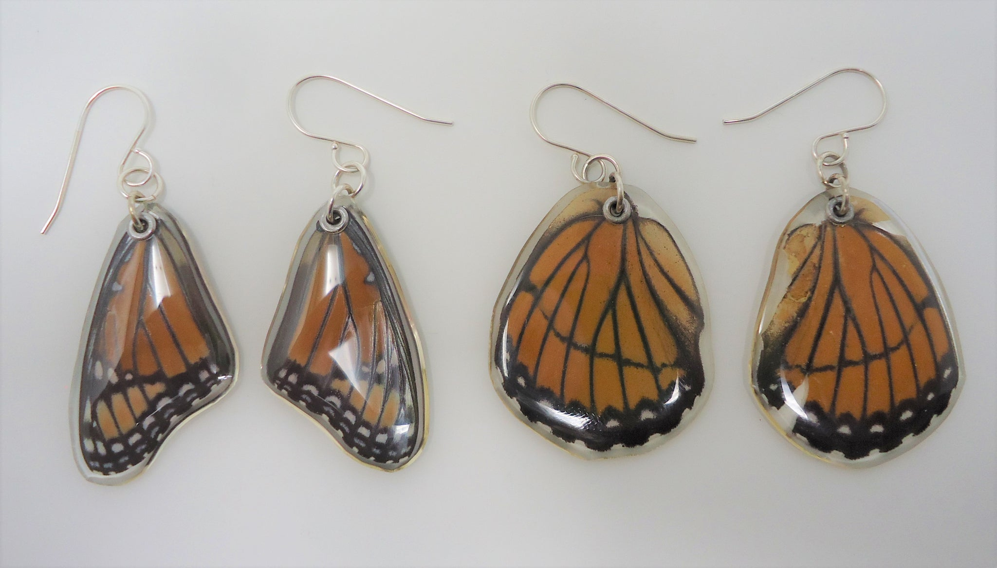 Real Tiger Mimic Butterfly Wing Necklace
