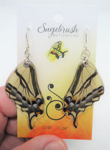 Western Tiger Swallowtail Resin Earrings - Papilio rutulus