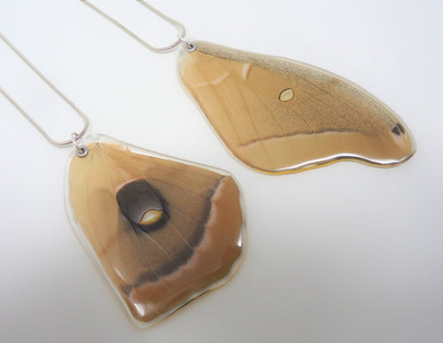 Polyphemus Moth Resin Wing Necklace
