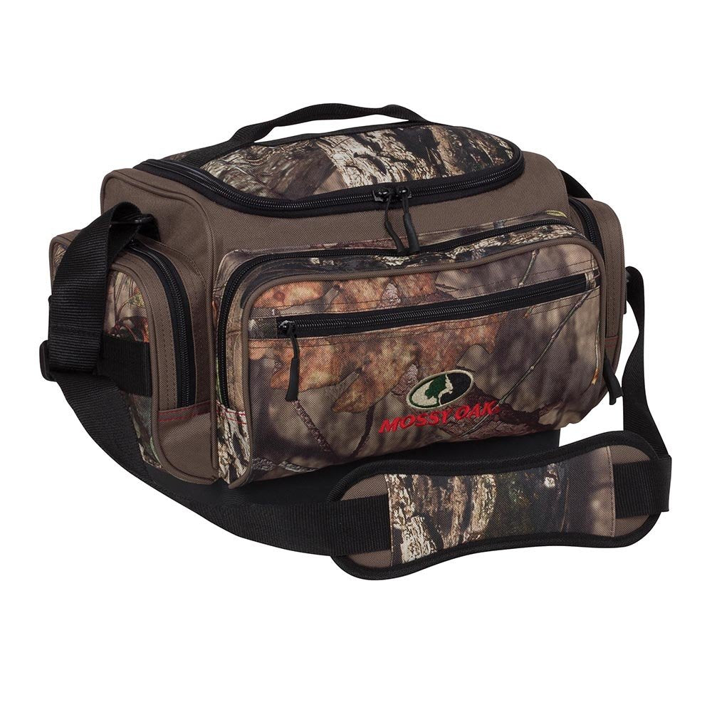 Mossy Oak Tackle Bag with Four Tackle Boxes, 25-Liter Storage