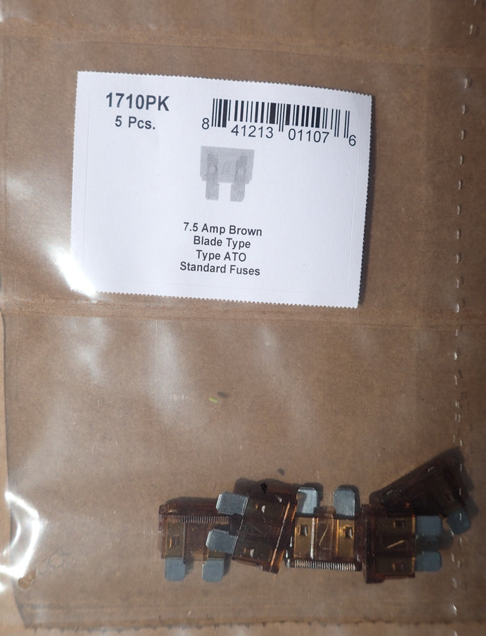 8657-1710 Blade Type Fuse Standard ATO: Brown 7.5 Amp