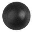 "8675-10644 Black Rubber Vacuum Caps 5/16"" Outside Diameter Tube Size:  Short"