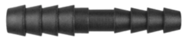 "8675-11294 Black Nylon Straight Hose Reducer 1/4"" x 3/16"" Hose Inside Diameter"