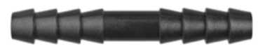 "8675-11296 Black Nylon Straight Hose Connector 3/16"" x 3/16"" Hose Inside Diameter"