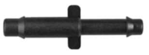 "8675-11301 Black Nylon Straight Hose Reducer 3/16"" x 1/8"" Hose Inside Diameter"