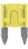 8657-1738 Blade Type Fuse Mini ATM: Yellow 20 Amp