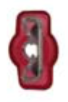"8679-3612: Red Nylon Crimp Connector 1/4"" Tab Fully Insulated Female Spades"