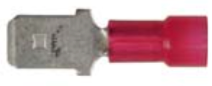 "8679-3616: Red Nylon Crimp Terminal Connector 1/4"" Tab Size Male Spade"