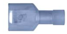 "8679-3632: Blue Nylon Crimp 1/4"" Tab Size Fully Insulated Male Spade"