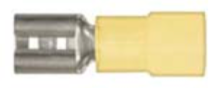 "8679-3649: Yellow Nylon Crimp Connector 1/4"" Tab Size Female Spade"