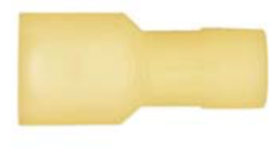 "8679-3652: Yellow Nylon Crimp Connector 1/4"" Tab Size Fully Insulated Male Spade"