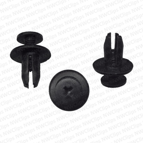 C12 - GM, Mazda & Toyota Engine Grill & Radiator Black Nylon Retainer Clips