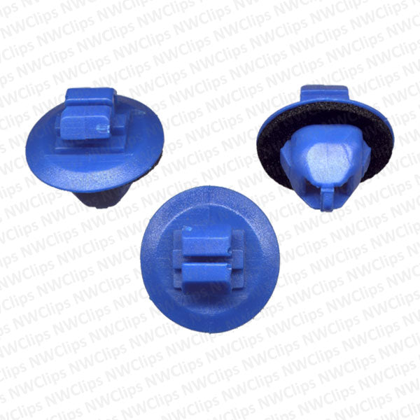 C49 - Toyota Rocker Blue Nylon Plastic Moulding Clips With Sealer