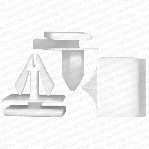 C53 - Chrysler, Cadillac & Chevrolet Rocker & Cladding White Nylon Clip