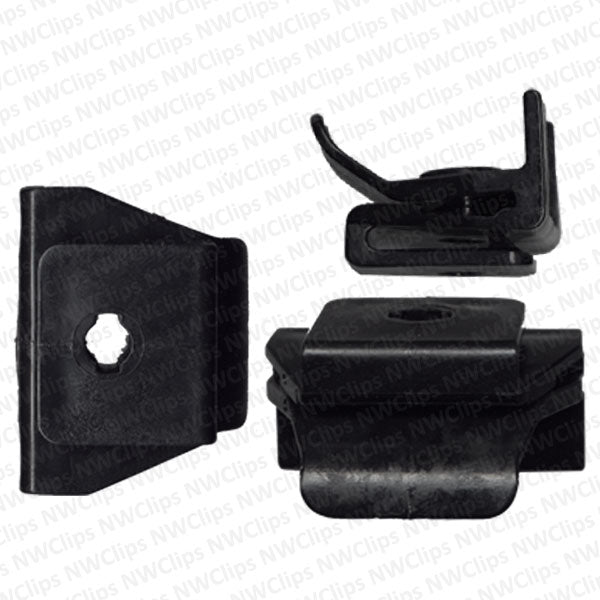 C58 - GM & Toyota Bumper & Fender Black Nylon Plastic Cover Clips