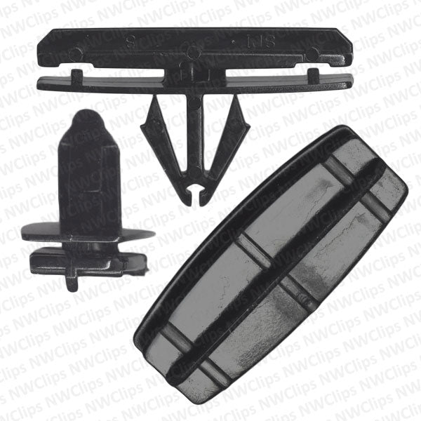 C79 - Jeep Chrysler Fender & Rocker Black Nylon Fender Flare & Moulding Clips