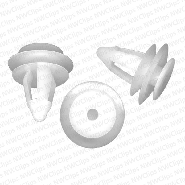 8615-9444: D03 - Honda Door White Nylon Plastic Trim Panel Retainer Clips
