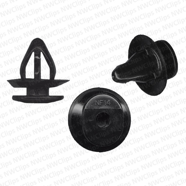 D12 - Subaru Door & Fender Black Nylon Trim Panel Retainer Clip