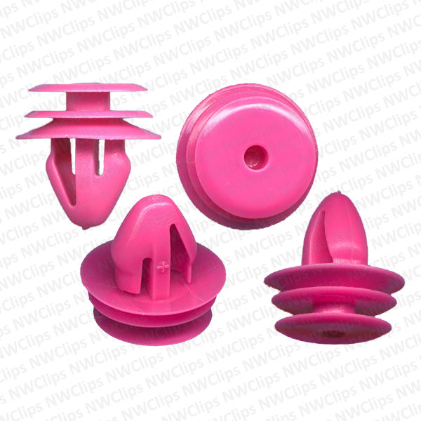 D13x25 - Hyundai, Kia Pink Nylon Door Trim Panel 25 Retainer Clips