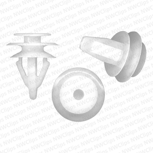 D15 - Honda White Nylon Door Trim Panel Retainer Clips