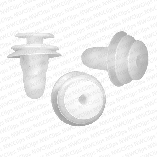 8615-9081: D17 -Toyota Door White Nylon Plastic Trim Panel Retainer Clips
