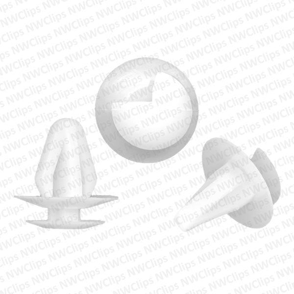 D18 - Mazda & Toyota Door White Nylon Plastic Trim Panel Retainer Clips
