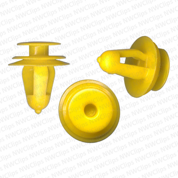 D19 - Yellow Nylon Door Panel Retainers for GM, Scion Toyota