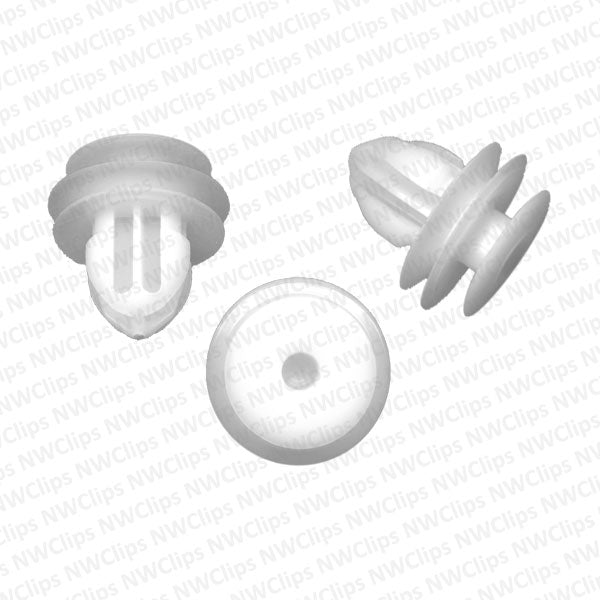 D21 - White Nylon Door Trim & Garnish Moulding Retainer Clips