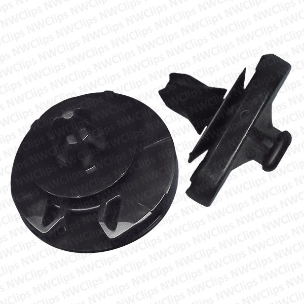 D26 - VW Black Nylon Door Trim Panel Retainer Clip