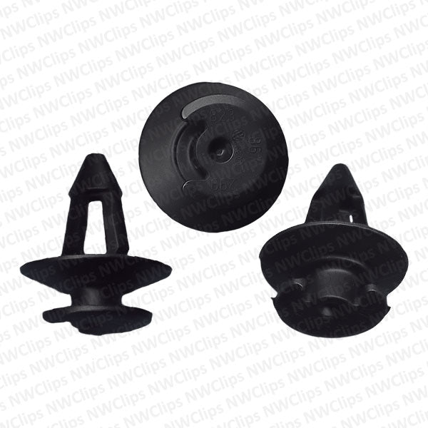 D37 - VW Door Black Nylon Plastic Trim Panel Retainer Clips