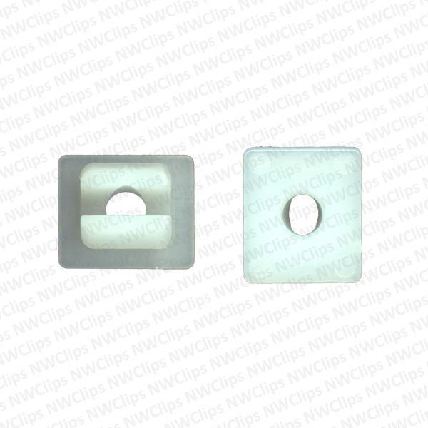 G04 - Toyota & Universal Grill & Radiator White Nylon Screew Grommet Nuts - Qty. 1