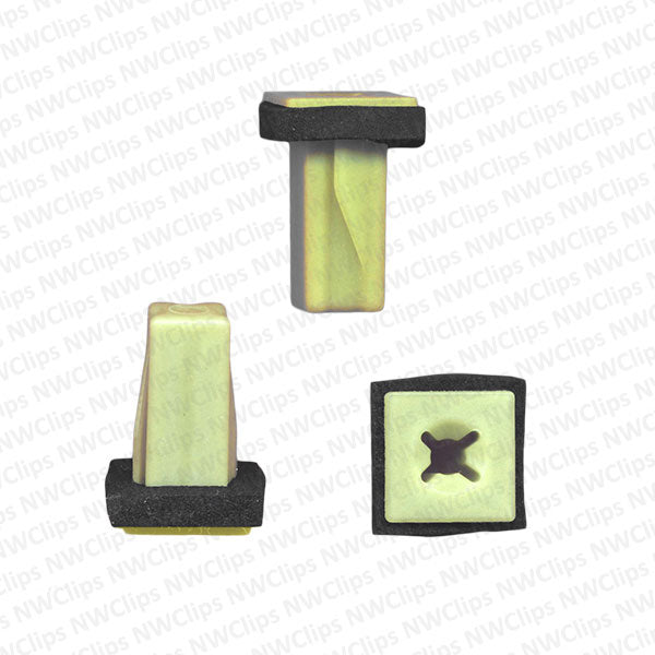 G09 - GM Bumper Natural Nylon Plastic Cover Grommets - Qty. 1