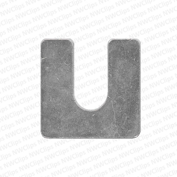 M05 - Universal Use Bright Zinc Finish Steel Bumper, Body Suspension Shims